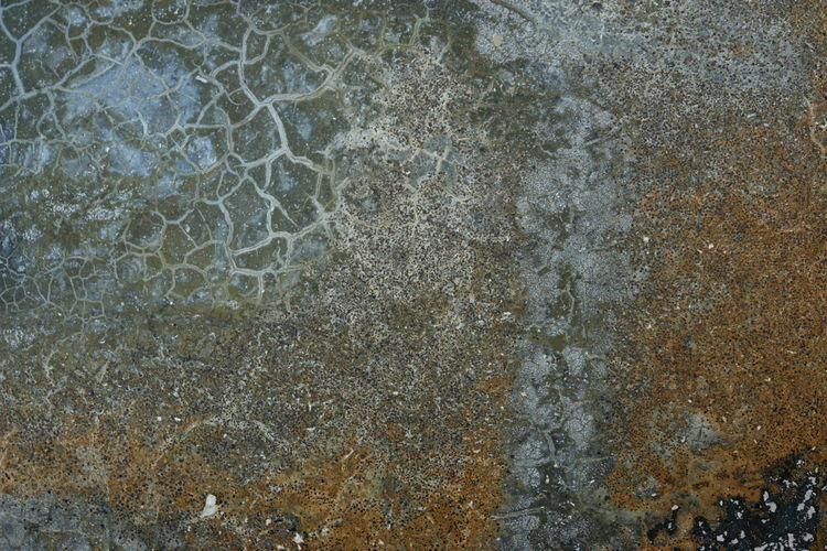 Abrasive Abstract Asphalt Background Backgrounds Change Close-up Cold Destruction Detail Directly Above Dirty Full Frame Geometry Ground High Angle View Low Section No People Pattern Steel Textured  Weathered Wet Winter