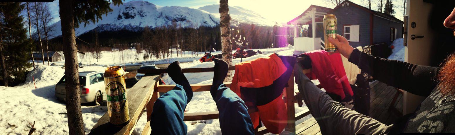 Stekig dag i påskas! Snowdreamsproductions Påsk Sol Snowmobile