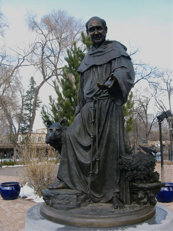 Santa Fe New Mexico St Francis Of Assisi Statue Saint Snow Still Life Still Life Photography Finding New Frontiers