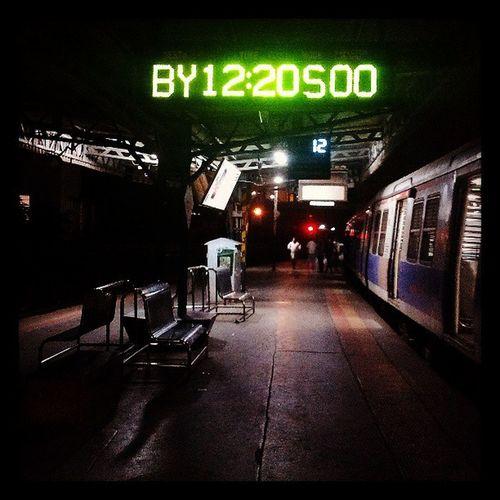 AfterMidnight. Late Aftermidnight Travel Alone mumbai instacity timing green empty mumbaicentral railwaystation westernrailway train life