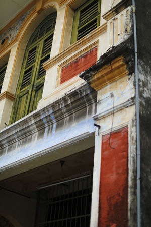 Penang Pre War House #color #georgetown #heritage #penang #prewarhouse Architecture Building Exterior Low Angle View Window