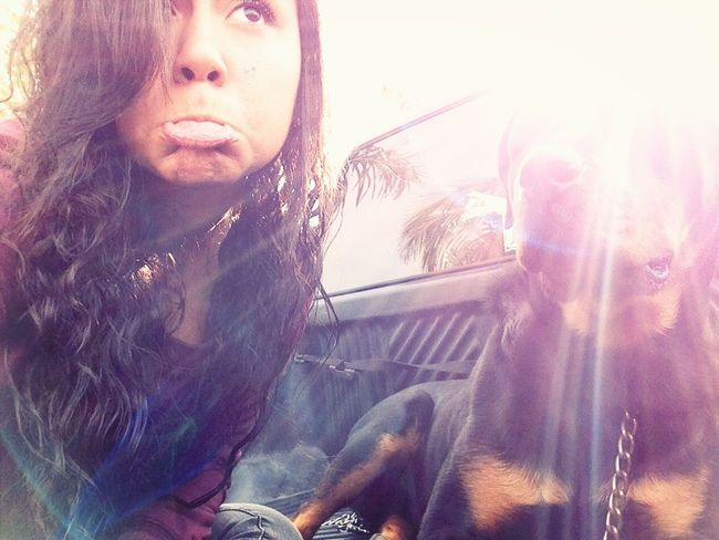 Chillen with ma bby Snoop ;*