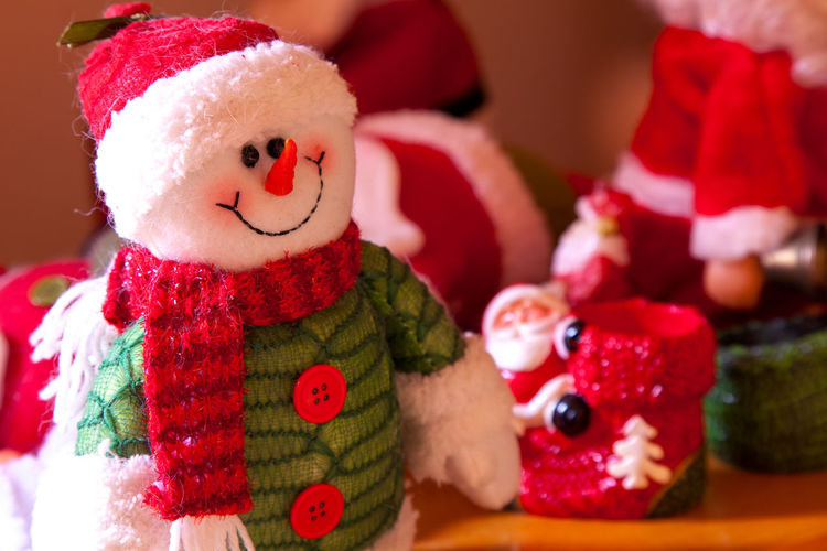 Art And Craft Celebration Child Childhood Christmas Close-up Clothing Creativity Decoration Hat Holiday Holiday - Event Human Representation Indoors  Male Likeness Red Representation Santa Claus Toy Warm Clothing Winter