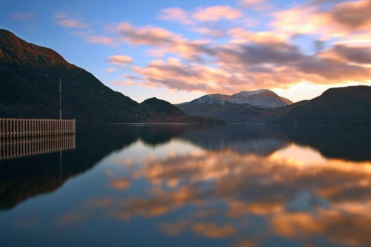 Ullswater Beauty In Nature Cloud - Sky Dam Day Idyllic Lake Mountain Mountain Range Nature No People Outdoors Reflection Scenics Sky Sunset Tranquil Scene Tranquility Ullswater, Lake District, Water Waterfront