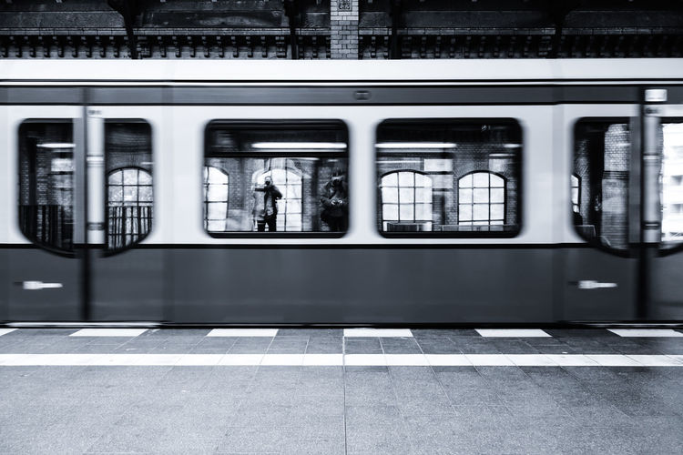two shooters .... Architecture Bahnsteig  City City Life Empty Illuminated Monochrome Motion Platform Public Transportation Reflection S-bahn Sbahn Subway Train Zug