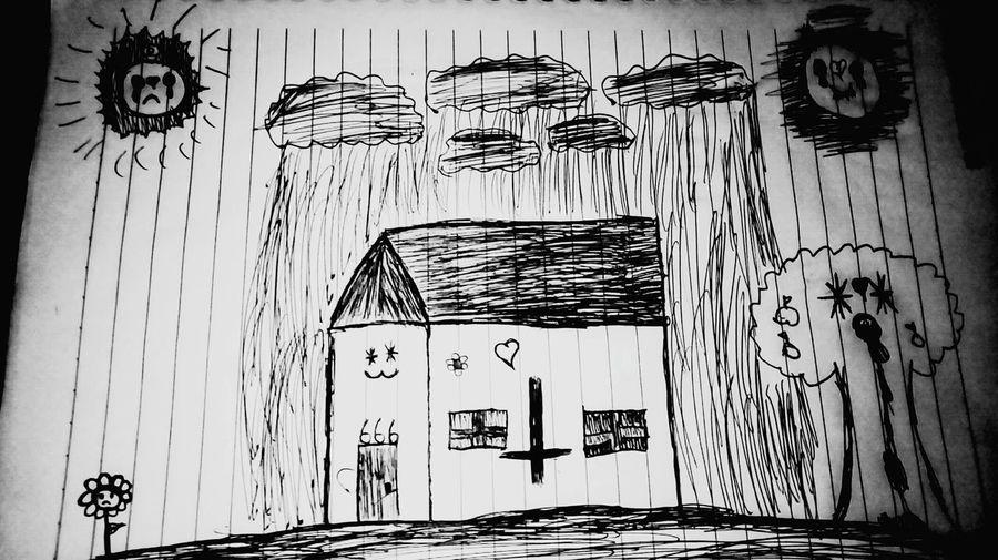 :3 kawaii Arte Art Sad Triste Creepy Assustador Terror Desenho Drawn Medo KAWAII Fofo Cute Paper