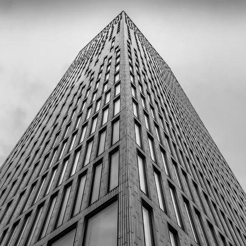 Skyscraper Building City Office Tower Cloud - Sky Glass - Material Built Structure Building Exterior Office Building Exterior Architecture Tall - High Sky Malmö Konserthus