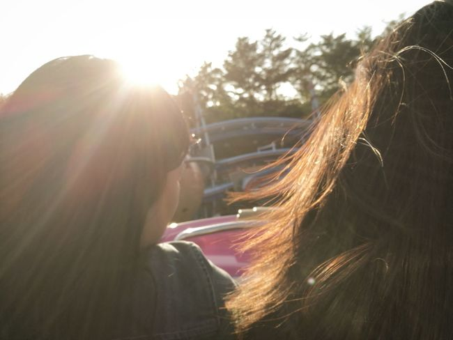 Long Hair People Day Two People Women Young Adult Outdoors Sun Rays Rides Motion Amusement Ride Amusement Park HuaweiP9plus Smartphonephotography Quicksnap