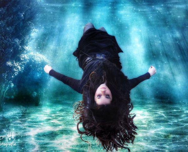 Blue Wave Portrait Of A Woman Floating Seascape Imagination Collection Dreams Purity Capture The Moment Movement Landscape_photography
