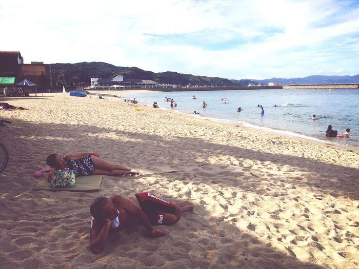 Enjoying The Sun Sea Relaxing Nice View