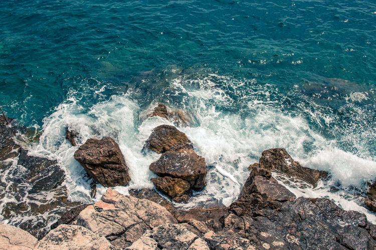 Rock shore Sea