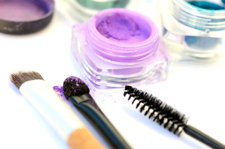 Beauty Product Indoors  Close-up No People Multi Colored Day Cosmetics Make-Up Time Purple Color Powder Brushes Make-up Make-up Brush Beauty Products Cosmetics & Glamour Cosmetics Background Make-up Items