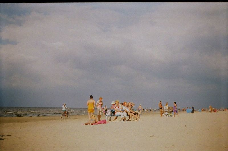 Beach Beauty In Nature Cloud - Sky Film Film Photography Nature Outdoors Sand Sand Dune Sea Sky Soviet Charm Water