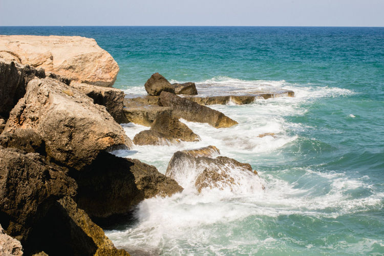 Blue Wave Cliffs Monopoli Vacations Adriatic Sea Beauty In Nature Blue Blue Water Cliff Day Italy Nature Outdoors Ridge Rock - Object Rocks Sea Sea And Sky Sky Summer Water Wave Waves
