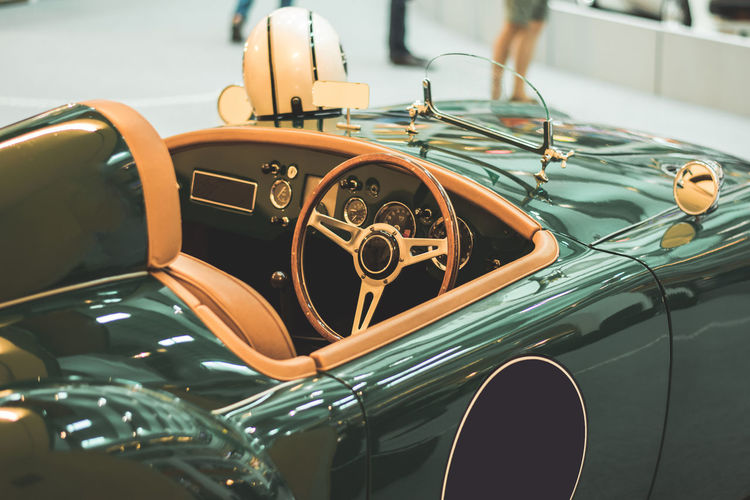 Close-Up Of Old-Fashioned Convertible Car