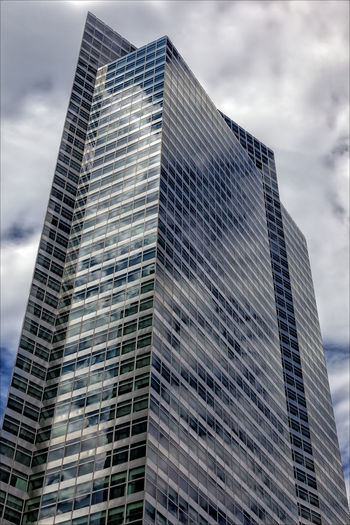 Reflective Architecture Building Exterior Clouds Glass Architecture Perspective Reflective Glass Architecture Sky