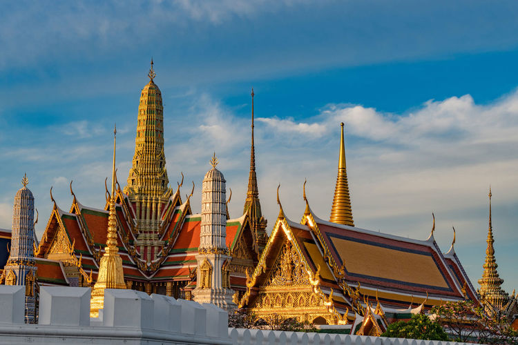 Wat phra kaew Wat Phra Kaew Religion Architecture Belief Built Structure Place Of Worship Spirituality Building Exterior Sky Building Cloud - Sky Travel Destinations Spire  Travel No People Nature Gold Colored Outdoors Bangkok Temple Buddha Thailand