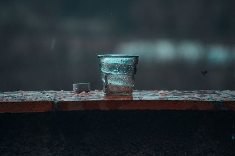 Close-up of drink in water