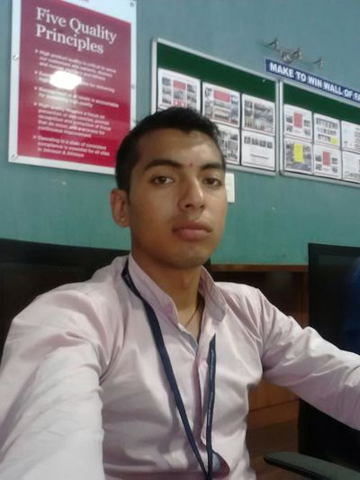 1st day on job feeling awesome.....Thanks mom dad