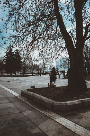 Lonely street musician Sofia #Bulgaria #City #Sofía #cityscapes #europe #travel #travelling #travelphotography #urban #urban Scene #urbanexploration  #urbanphotography Bare Tree Branch Day Full Length Nature One Person Outdoors People Real People Sky Tree Winter