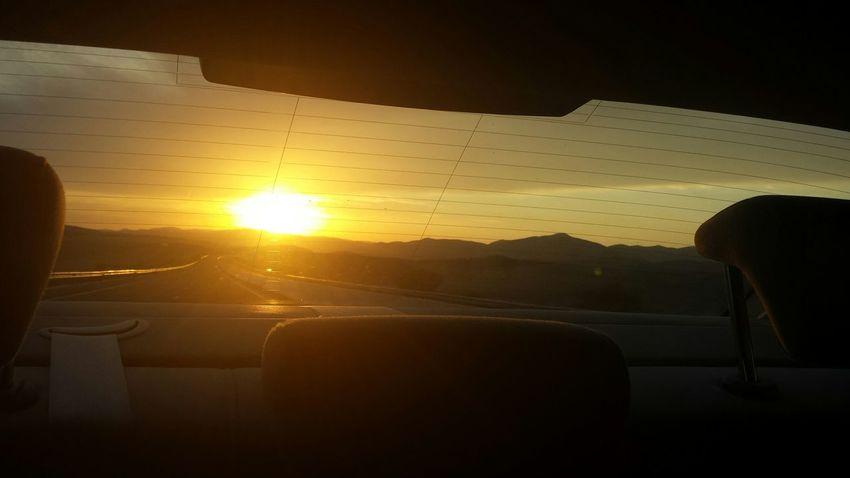سبحانك ربي الحمد_لله Nature The Purist (no Edit, No Filter) On The Road Trip Amazing Sunset Morocco Car Travel