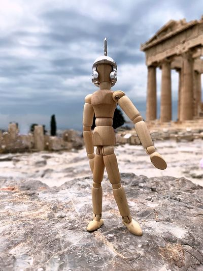 Heroic Woody Acropolis Athens Travelphotography Woodyforest Greece Architecture Human Representation Art And Craft Representation Male Likeness History Built Structure Architectural Column Travel Destinations Sculpture Creativity