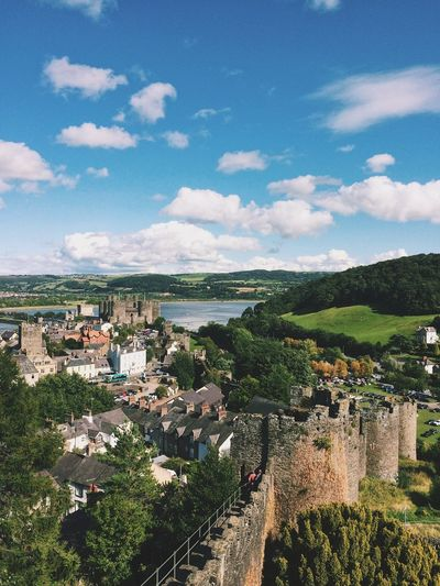 Picturesque History Lifeisbeautiful Blue Sky Green Color Travel Photography Conwy Castle Wales UK Unitedkingdom First Eyeem Photo