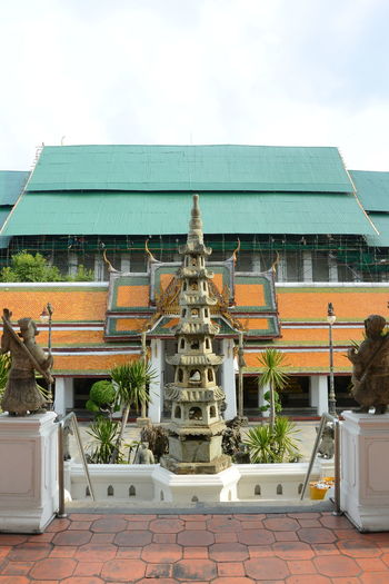 Architecture Bangkok Buddha Building Building Exterior Built Structure City Day Glass - Material House No People Outdoors Roof Sky Temple Thailand Wat Suthat