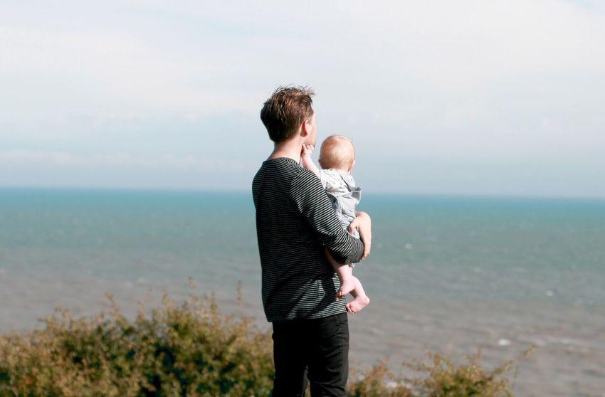 Father Child Legacy Future Sea Together Togetherness Love Embrace Father & Son Fatherhood Moments