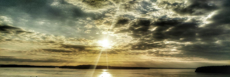Cloud - Sky Nature Outdoors Scenics - Nature Sun Sunbeam Sunlight Sunset Tranquil Scene Water Waterfront