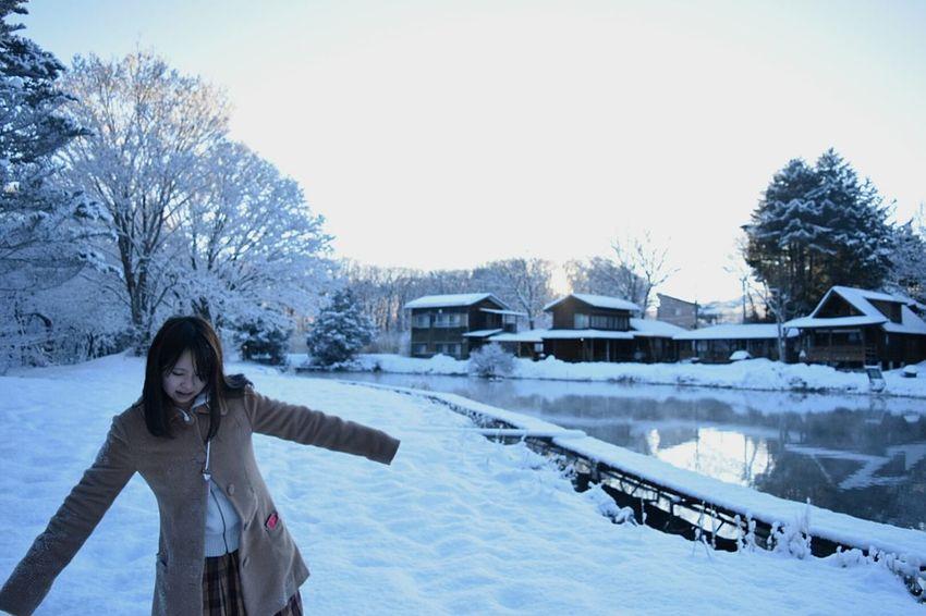 Exploring into white. Japanese Style Showcase: February Snow Morning WHiTE WORLDat Yamanakako , Japan (bottom of Mt.fuji)