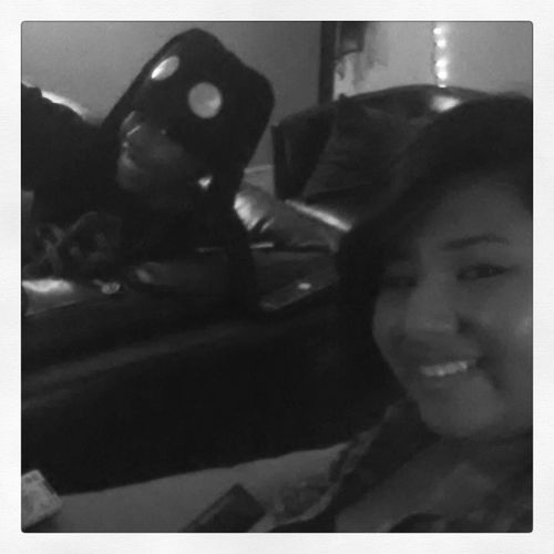 Me and my sister kicking it watching Youngfrankinstien