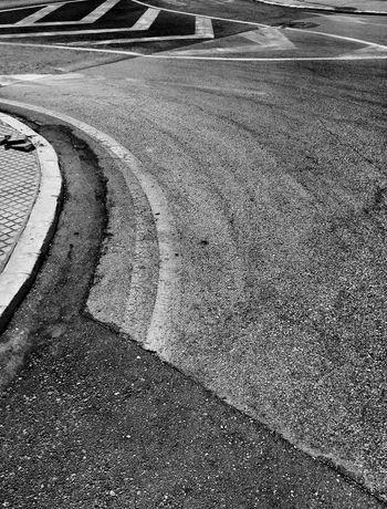 Black&white Streetphoto_bw Asphalt Curves Street