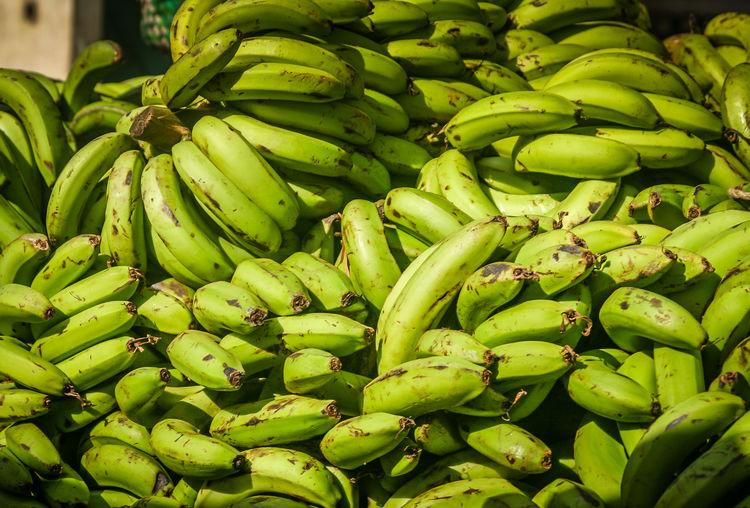 Full frame shot of bananas at market stall
