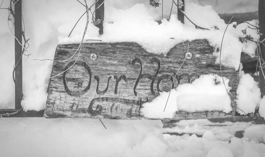 Our Home  Harpersferry Winter Home Sweet Home Snow Black And White