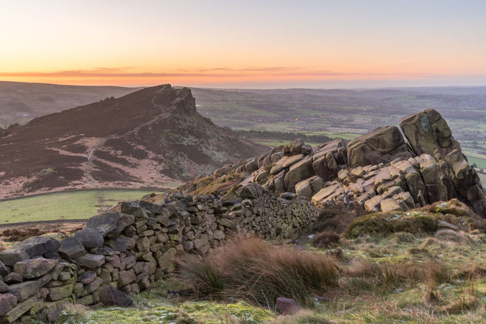 A very windy morning for sunrise at the Roaches near Leek, Staffordshire. Clear Sky Landscape_Collection Leek Morning Morning Light Staffordshire Wall Beauty In Nature Early Morning Landscape Mountain Nature No People Outdoors Rocks Scenics Sky Stone Wall Sunrise The Roaches Tranquil Scene Tranquility