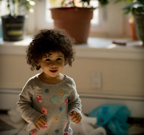 Portrait Of Baby Girl At Home