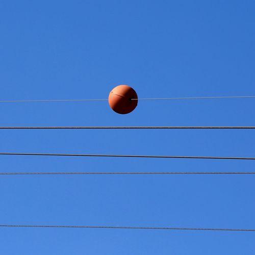 Orange Color Orange Colour Orange On Blue Blue Sky Blue & Orange Sky & Wires Abstract Abstractions The Week On EyeEm