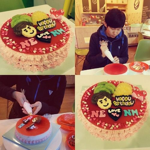Happy Birthday Cake DIY ILU Sweet Date 미리생일축하해 새로운 경험 재밋쒀라~? 시간아빨리가라 82828282~~~ :)