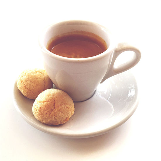 Espresso mit Amarettini Espresso Amarettini Close-up Coffee - Drink Coffee Cup Cookie Drink Food Food And Drink Freshness Refreshment Sweet Food