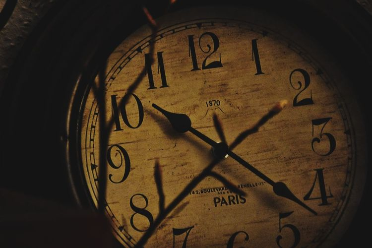 Good night. Time Clock Clock Face Minute Hand Number Old-fashioned Indoors  No People Close-up Hour Hand Day Roman Numeral Light And Shadow Taking Photos Night Still Life Backgrounds Clockwise Lightning