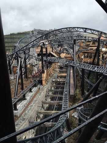 Achterbahn Railroad Track Iron - Metal Roller Coaster Rollercoaster Cologne , Köln,  Brühl