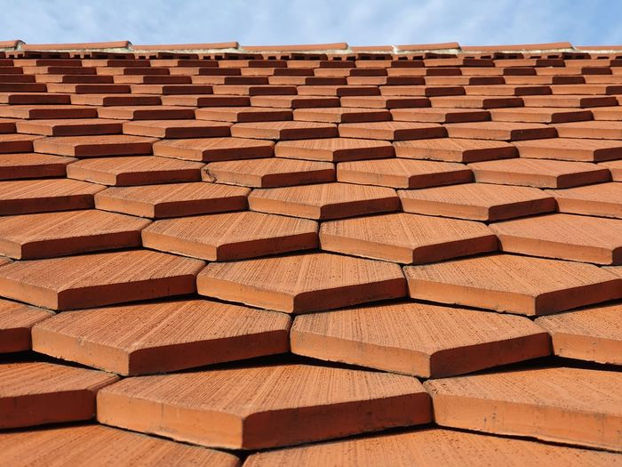 Stack of roof tiles