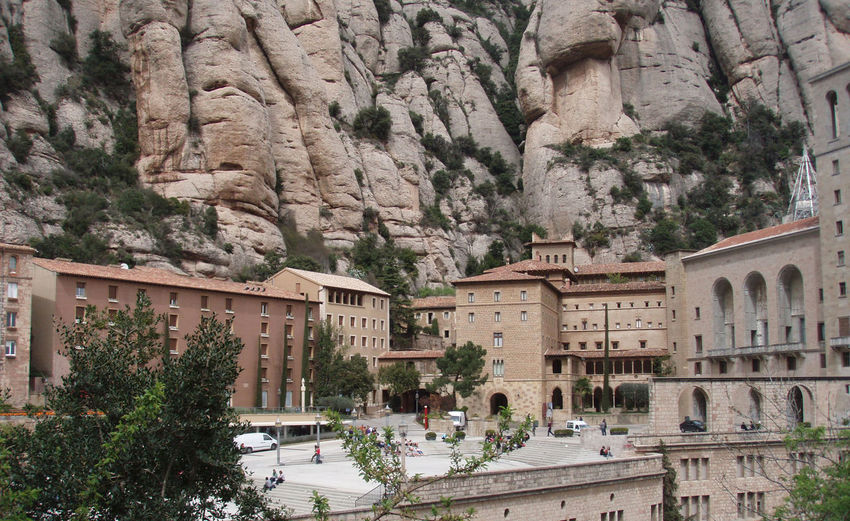 Architecture Barcelona Church Europe Landscape Monastery Monserrat Mountains Nature Religion Religious  Religious Architecture Rock Formation Rocks SPAIN Trees