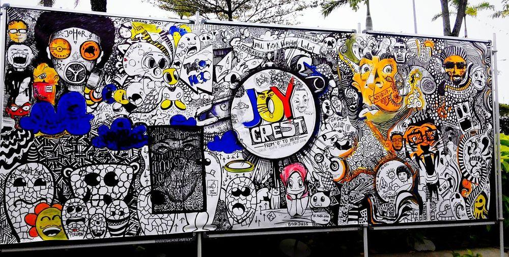 Doodle Art Sharpie Art Creativity Colours My Artwork Mixed Media Acrylic Painting Johor Uitm