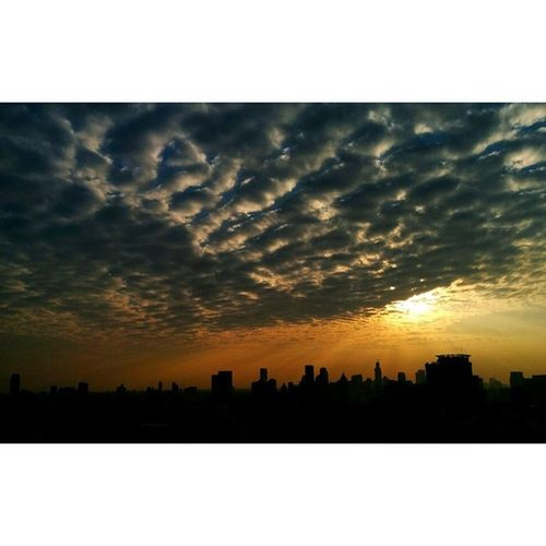 The amazing sky of Bangkok on the cold day. Skyviewer Sky Cloud Sunset Sun