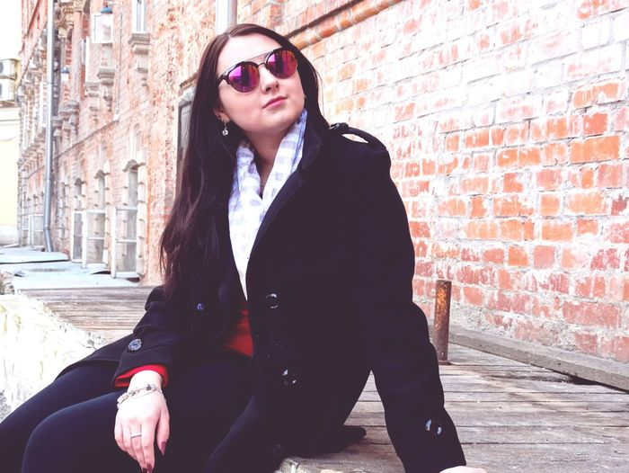 One Person Adult Sunglasses One Woman Only City Individuality Only Women Adults Only People One Young Woman Only Young Adult Built Structure Street Building Exterior Outdoors City Life Architecture Portrait Eyeglasses  Business Model EyeEm Selects Beauty Moscow Beautiful Woman