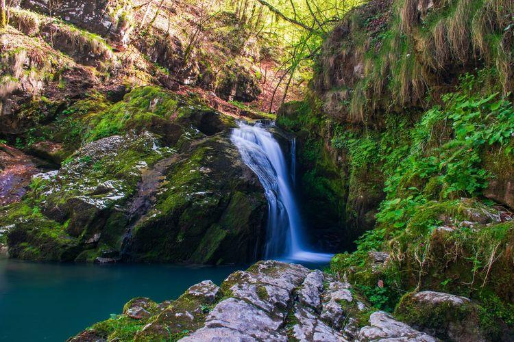 Zeleni vir Long Exposure Waterfall Stream Creek Water Rock Formation Croatia Nature Photography Forest