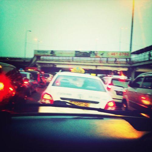 Jakarta Traffic Jam Holiday Stuck In The Car