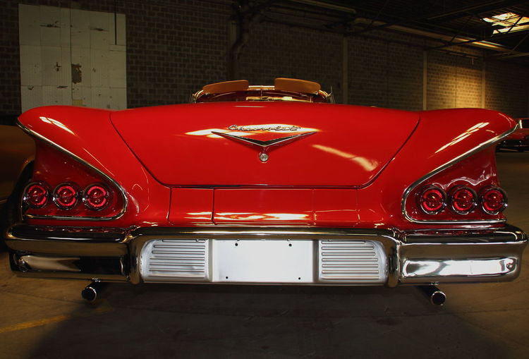 Classic Car Indoors  No People Oldtimer Oldtimer Germany Red Red Carpet Event Red Chevy Red Color Red Us Car Us Classic Cars
